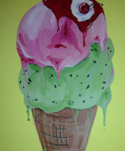Ice Cream Cone Painting Party