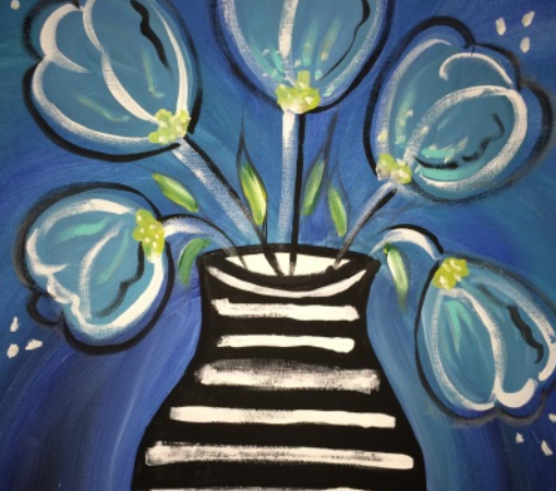 Blue Blossoms Painting Party