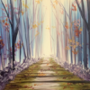 Autumn Path Painting Party