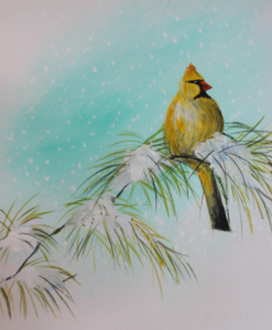 Yellow Snowbird Painting Party