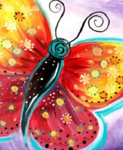 Fuschia Flutter Painting Party