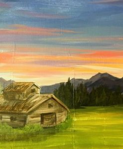 Barn Canvas Painting